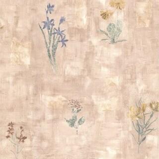 Brewster 347-42718 Twain Mauve Terracotta Wildflower Wallpaper