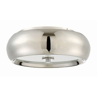 """Craftmade X7214-LED Single Light 14"""" Wide Integrated LED Flush Mount Ceiling Fixture with White Frosted Glass Shade"""