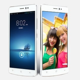 Indigi® V19 Factory Unlocked 3G GSM+CDMA 5.5inch HD Android 4.4 KitKat Dual-Core Dual-Sim Smartphone (White)