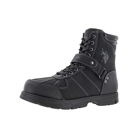 U.S. Polo Assn. Mens Connor Combat Boots Duck Toe Padded Collar