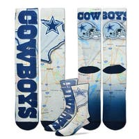 Dallas Cowboys Roadmap Sublimated Socks, Large (10-13)