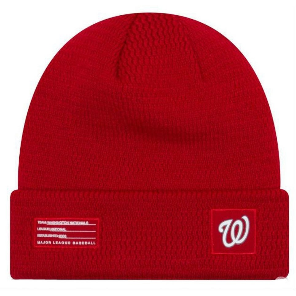 0ecdf8265 New Era MLB Washington Nationals Sport Stocking Knit Hat Beanie Cuff Skull  Cap