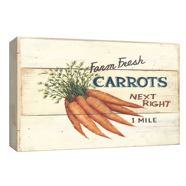 """PTM Images 9-153725 PTM Canvas Collection 8"""" x 10"""" - """"Farm Fresh Carrots"""" Giclee Fruits & Vegetables Art Print on Canvas"""