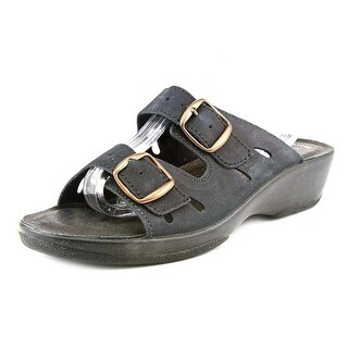 Spring Step Monstone Women Open Toe Leather Slides Sandal