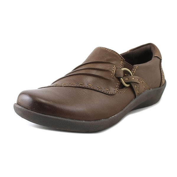 Earth Origins Lacey Women Round Toe Leather Brown Loafer