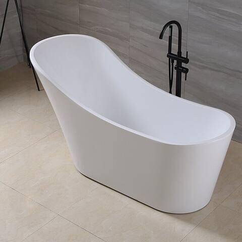 """CB HOME Spa 55"""" x 28.5"""" Freestanding Soaking Bathtub"""