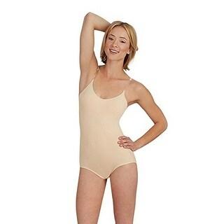 Capezio Womens Camisole Leotard With Bratek W/Clear Straps, Nude, Large