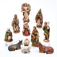 """11 Pieces Subtle Colored Traditional Style Nativity Figurine Set 6"""" - brown"""