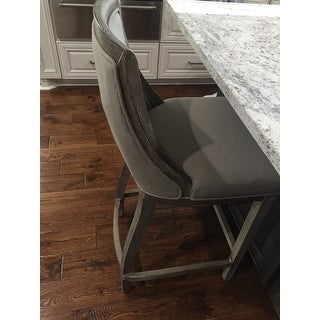 Park Avenue Beige Linen Bar Stool Free Shipping Today