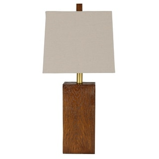 Link to Garrick Wood Finish Rectangle LED Table Lamp Similar Items in Table Lamps