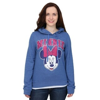 Minnie Mouse Big Face Womens Hooded Sweatshirt