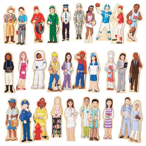 Wooden Wedgie Career People - Set of 30