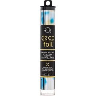 """Deco Foil Specialty Transfer Sheets 6""""X12"""" 5/Pkg-Lapis Watercolor"""