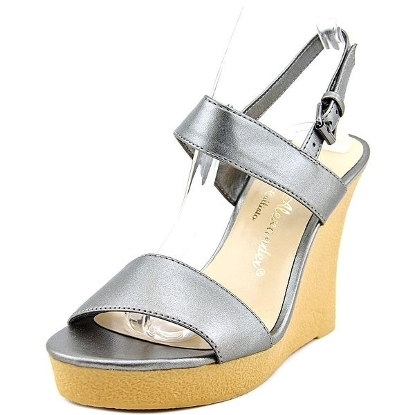 Athena Alexander Beryl Women Open Toe Synthetic Gray Wedge Sandal