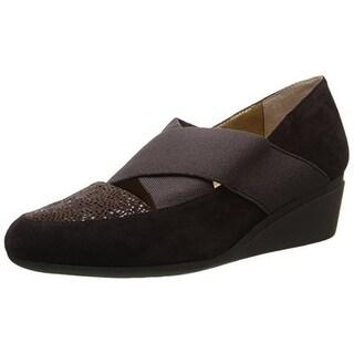 J. Renee Womens Suede Printed Wedge Heels