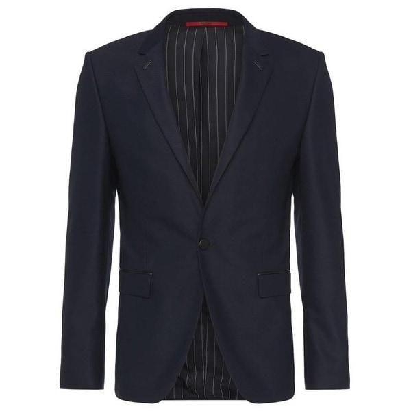 153b8d623 Hugo Boss Men's Arenz Extra Slim Fit Wool Blend Sportcoat 34R Navy