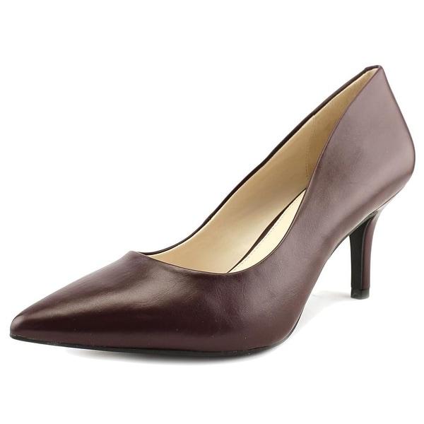 Alfani Jeules Pointed Toe Leather Heels