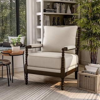 Link to Furniture of America Digg Beige Fabric Accent Chair Similar Items in Accent Chairs