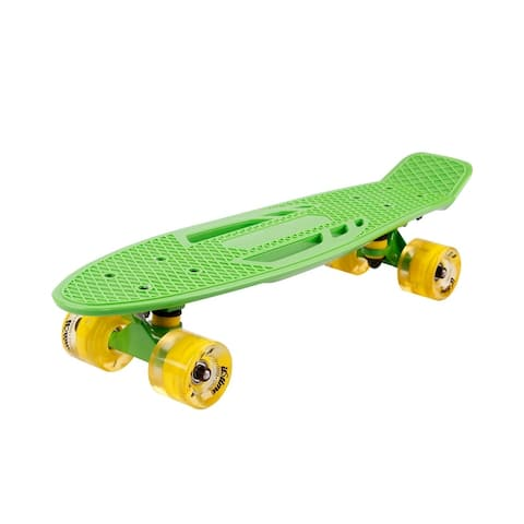 22 Inch Skateboard with LED Light Up PU Wheels And Bendable Deck