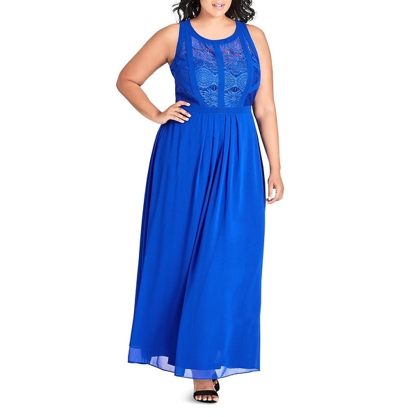 City Chic Womens Apparel Womens Plus Size Maxi Panelled Bodice