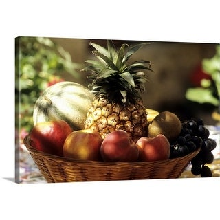 """bowl of summer fruit"" Canvas Wall Art"