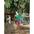 Sunnydaze Mayan Hammock Chair with Wood Spreader Bar & Hammock Stand - Thumbnail 2