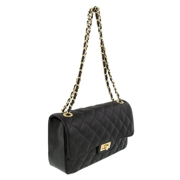 HS Collection HS6078 NR DITA Black/Gold Shoulder Bag