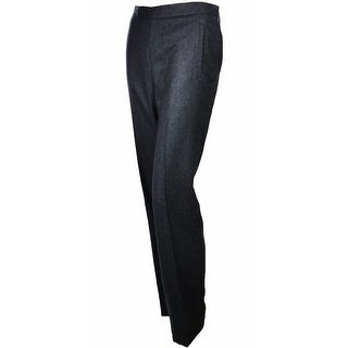 Sutton Studio Womens 100% Cashmere Slim Dress Pants Plus Sizes - Heather Charcoal - 16W