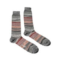 Missoni GM00CMU5439 0005 Gray/Orange Boot Socks - Grey