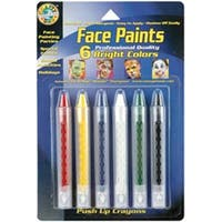 Bright - Face Paint Push-Up Crayons 6/Pkg