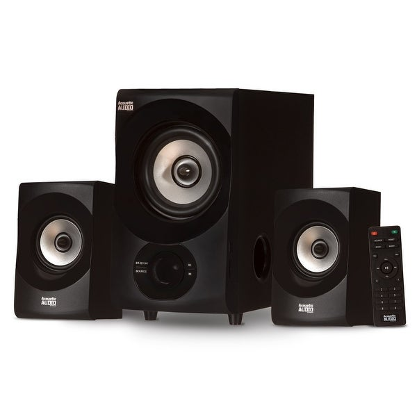 Acoustic Audio AA2171 Bluetooth Home 2.1 Speaker System with USB & SD Multimedia