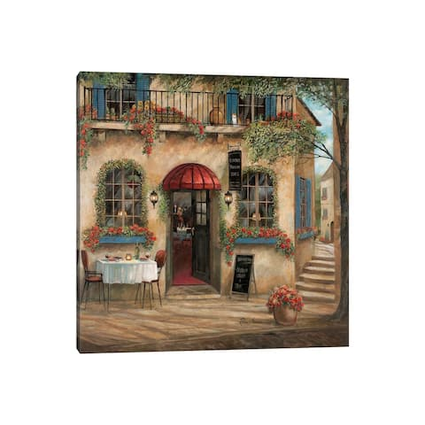 "iCanvas ""Centro Piazza Cafe"" by Ruane Manning Canvas Print"