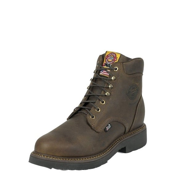 Justin Work Boots Mens J-Max Balusters Bay Steel Toe Bay Gaucho 439