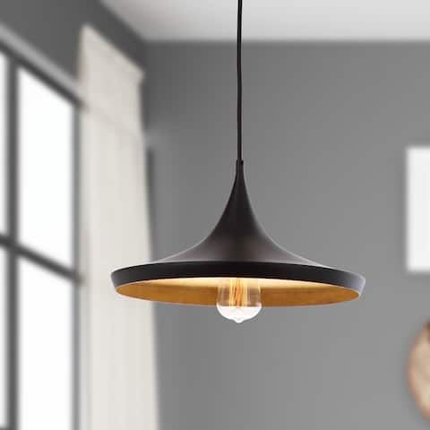 "SAFAVIEH Lighting Bowman Adjustable 1-light Edison Bulb Pendant - 14.25""x14.25""x15-47"""