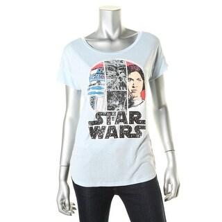 Star Wars Womens Juniors Studded Graphic Graphic Tee