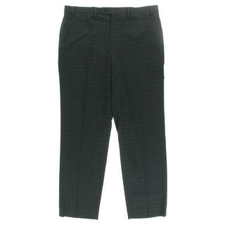 MICHAEL Michael Kors Mens Plaid Flat Front Dress Pants