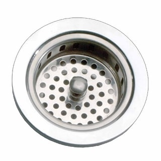 Kitchen Sink Strainer - 3-5/6 Dia. - Solid Brass - Chrome Finish  | Renovator's Supply