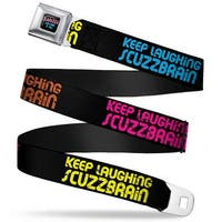 Clarissa Explains It All Full Color Black Pink Blue Keep Laughing Seatbelt Belt