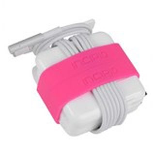 Incipio Block Bands for 45W Power Adapter for MacBook Air 11in/13in (Neon Pink)