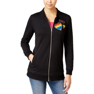Almost Famous Womens Jacket Long Sleeve Zip Front