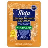 Tilda Whole Grain - Brown Basmati and Quinoa - Case of 6 - 8.5 oz.