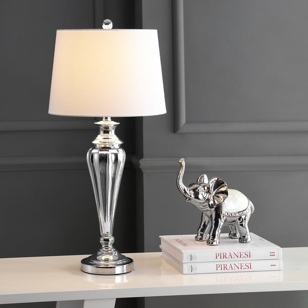 """Safavieh Lighting 30-inch Trent LED Table Lamp - 14""""x14""""x30"""". Opens flyout."""