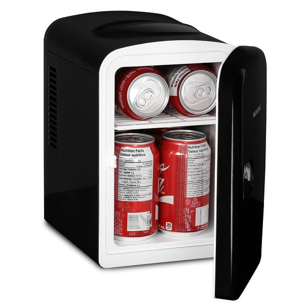 Magnasonic Portable 6 Can Mini Fridge Cooler & Warmer, 4L Capacity, 110V & 12V AC/DC Power for Home, Office, Car & Boat