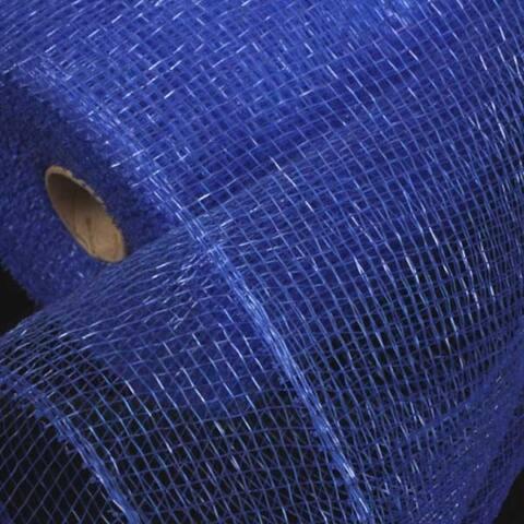 "Blue Deco Mesh Craft Ribbon 6.5"" x 120 Yards"