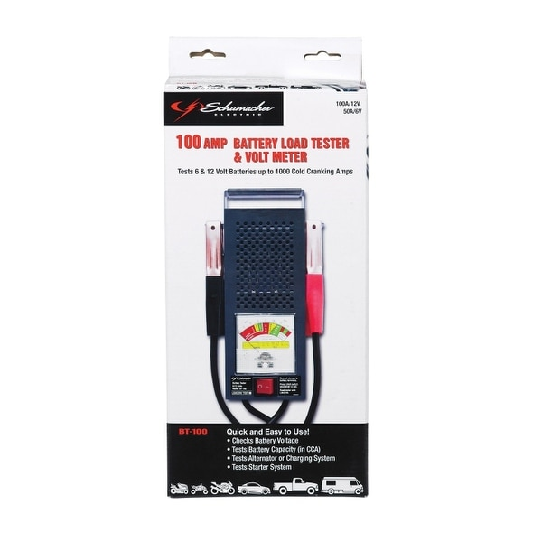 Schumacher Battery Load Tester : Shop schumacher bt battery load tester volt meter