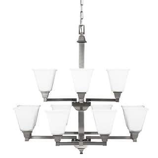 Sea Gull Lighting 3150412-962 Denhelm 12 Light Glass Chandelier Lighting Nickel|https://ak1.ostkcdn.com/images/products/is/images/direct/49f2050859036566e31a703631bf040cc1bf4557/Sea-Gull-Lighting-3150412-962-Denhelm-12-Light-Glass-Chandelier-Lighting-Nickel.jpg?impolicy=medium