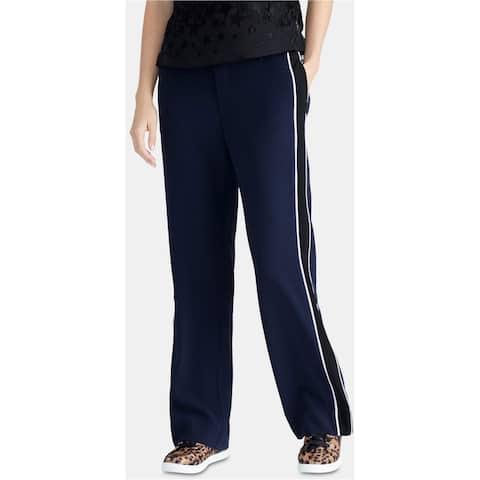 Rachel Roy Womens Piped Trim Casual Trouser Pants, Blue, 10