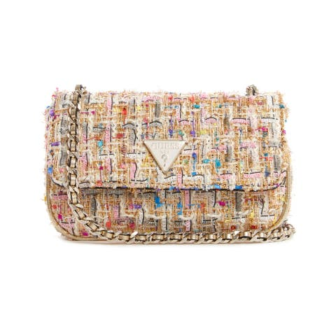 Guess Women's Cessily Micro Sling Cross Body Bag - Gold Multi
