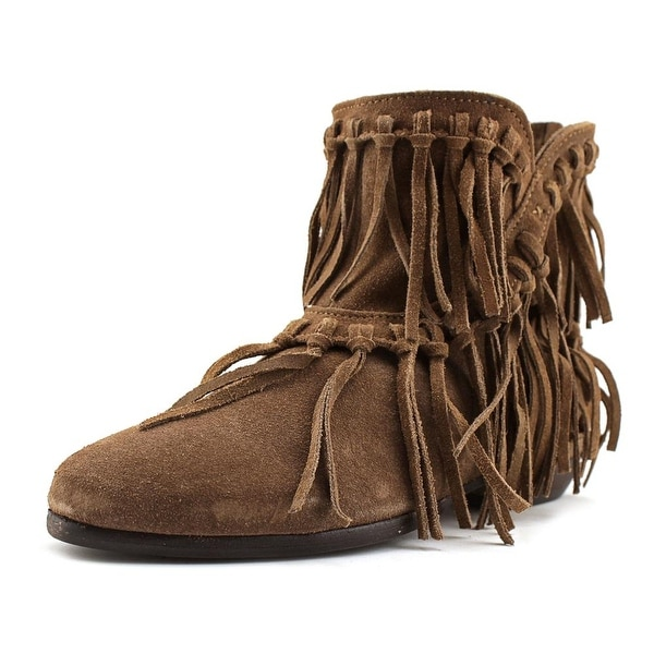 MTNG Charlie Women Round Toe Suede Brown Bootie