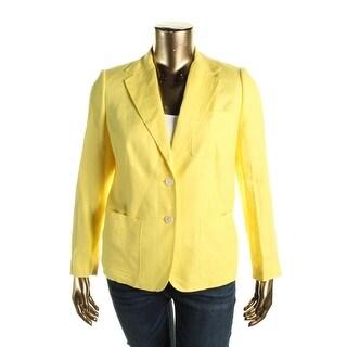 Lauren Ralph Lauren Womens Blazer Linen Bright